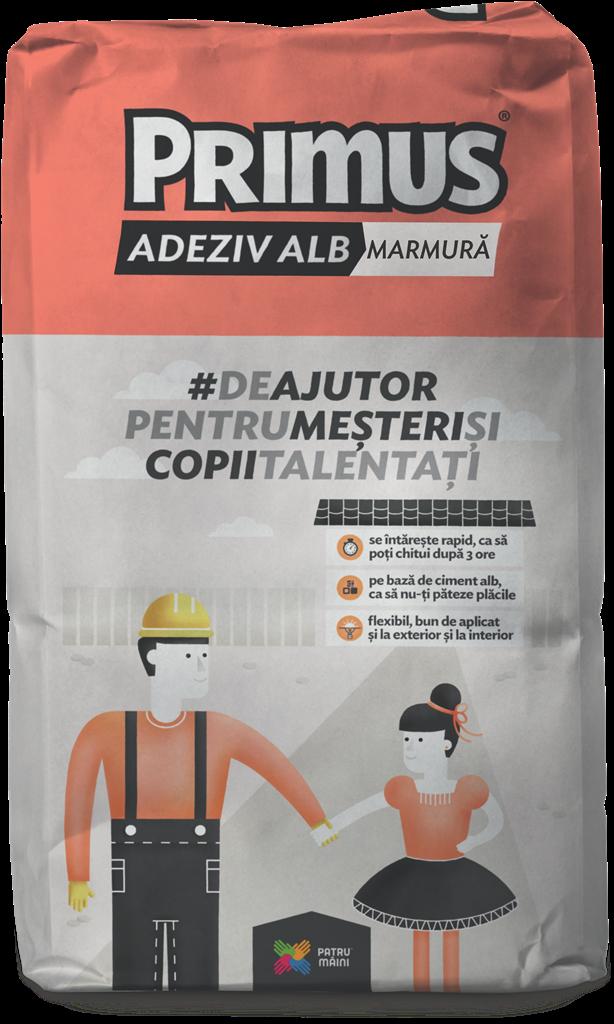 PRIMUS ADEZIV ALB MARMURA